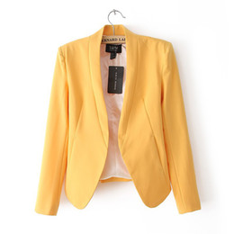 Wholesale 272671 Fashion Euro Simple Style Women Long Sleeve Mandarin Collar Solid Color Blazer Casual Women Blazer