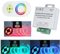 Wholesale 50set NEW Arrival DC V Multi function RGB LED Strip Controller Dimmer RF Remote Control Touch Panel best2011