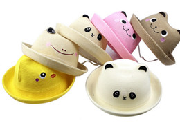 2013 new cartoon rabbit frog hat summer hat baby bear hat bucket hats sun hats children wholesale