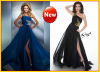 Chiffon One-Shoulder Sleeveless 2014 Peacock One shoulder A line Beads Crystal Chiffon Backless Floor Length Sexy Prom Pageant Dresses Formal graduation Dress Gowns 64403