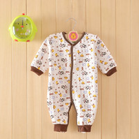 Wholesale Air layer warmer baby rompers infant soft one pieces kids bodysuits babies clothes