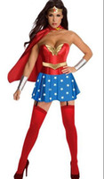 Wholesale 2013 New Hot Sexy Women Captain America Cosplay Lingerie Costume Fancy Mini Dress Cloak Halloween
