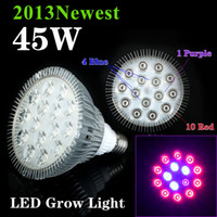 Wholesale 2013 Hottest AC85 V W E27 Hydroponic System Lamp LED Grow Plant Light Bulb For Plant Or flower In Outdoor Garden