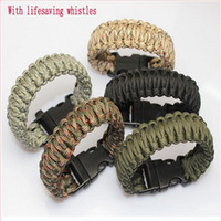 airsoft brands - Brand new Outdoor Tactical Airsoft War Game Lifesaving Bracelet Bangle Hand Chain with Survival Whistle