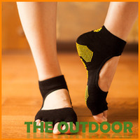 Wholesale Yoga Socks Combed Cotton Fiber Free Size Non Slip Backless Woman Sports Socks