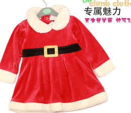 Wholesale Baby Christmas dress Christmas Costume Santa Baby Dress Santa Claus Romper