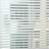Modern privacy window cling - Funlife x90cm x35 in Strip Privacy Frosted Decorative Glass Window Vinyl Static Cling Film wp1005