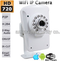 Wholesale HD P x720 Wireless P2P Mini Indoor WiFi Security Network IP Camera w Infrared LEDs Night Vision APP Remote Monitor AT NC223W IR