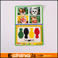 Wholesale Halloween Carnival Face Suction Card Color Surface Color Face diy Paint