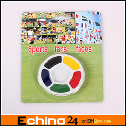 Wholesale Halloween face Round color Suction Card Face Football Fans Face