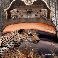 Adult bedding popular comforter set - Popular leopard animal cotton queen home textile comforter bedding sets with reversible duvet quilt cover flat sheet pc bed in a bag