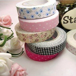 Wholesale Hot sales DIY printed Dot check Floral fabric cotton tape office adhesive tape patterns scrapbooking