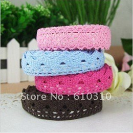 Free shipping New arrived 42 Colors Fabric Lace Tape Multifunction DIY Sticker Simple Tape Stationery Adhesive Tape(60pcs lot)