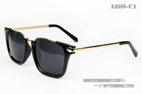 Wholesale 2013 whoslesale new fashion Korean sunglasses high quality metal leopard red brown box glasses