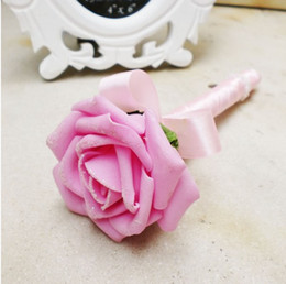 Wholesale Pink Rose Wedding Golden Ink Sign In Pen Wedding Reception Guest Sign In Bridal Shower Pens