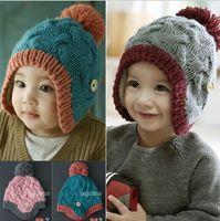 acrylic baby bonnet knitting pattern - Winter Baby Hat Crochet Solid Color Twist Pattern Toddler Handmade Knit Baby Beanie Bonnet Children s Caps Hats BB80