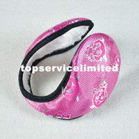 Wholesale FEDEX Fur earmuffs macrotrichia patent leather earmuffs MIXED COLOR
