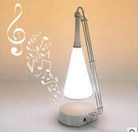 Wholesale Mini speaker Unique Touch Sensor LED Table Light Lamp With Built in Mini Speaker Black amp White Color