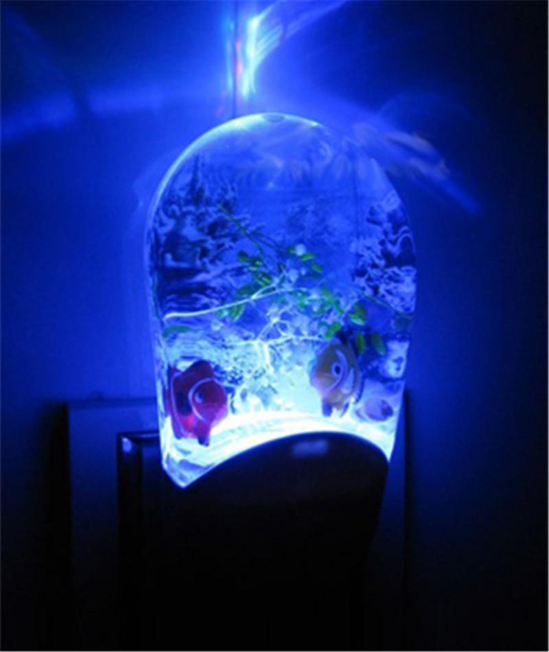 2017 newest aquarium design led night lights colorful for Fish tank night light