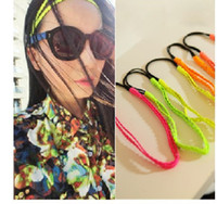 Wholesale 10pcs Nightclubs Jazz Hip Hop Fluorescent colors double layer solid color PU leather wig braids Bohemian Headband Hair Band Headwear