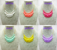 Wholesale 50pcs New Design Mini Teardrop Statement Necklace Beads Statement Choker Necklace