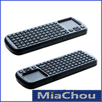 Wholesale 2pcs Xmas Sale iPazzPort G RF Mini Wireless Handheld Keyboard Touchpad with Smart TV PC Remote QWERTY LED Light Computer Peripherals