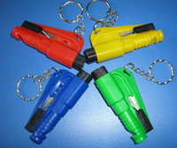 Wholesale Bodyguard in1 Car Escape Tool with Whistle Keyring Keychain packing Blister