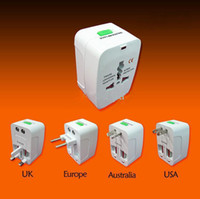 Wholesale All in One Universal Travel Wall Charger AC Power Adapter Converter AU UK US EU Plug with Retail box