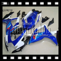 Wholesale 7gifts Cowl blue white Fit SUZUKI K6 GSXR750 Free Custom C GSXR GSX R750 factory blue GSXR Fairings Kits