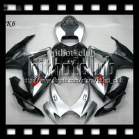 Wholesale 7gifts Cowl Free Customized Of Black silver SUZUKI K6 GSXR600 GSX R600 C GSXR Silvery GSXR Fairing Bodywork