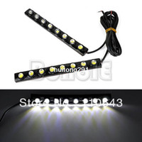LED 3 Silicon New 12V 2X Car DIY 8 LED DRL Driving Daytime Running Light Bar Soft Head Lamp Super White TK0002