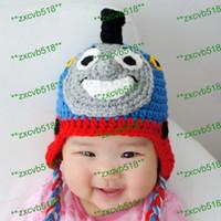 Boy Winter Newborn Hat Free shipping, 80pcs Cute Crochet hat Owl Crochet Knit Earflap Hat Cap Newborn Crochet hat Baby shoot props
