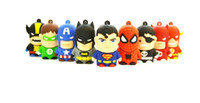 Wholesale mix super hero batman spiderman Captain America models real gb gb gb gb gb USB flash memory stick Pen drive thumb drive Udisk