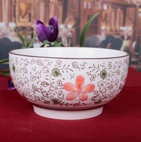 Wholesale Ceramic japanese style bowl endulge Large creamy bowl anti hot tableware domestic porcelain bowls