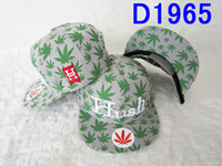 Wholesale snapback hats for men classic color weed design snapback caps adjustable disount fitted hat top hop woman hats