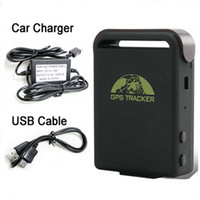 Wholesale SPY Realtime GPS Vehicle Car Tracker drive GPS GSM GPRS TK102B With Hard Wire Car Charger