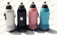 Wholesale LLFA1752 mm Mini Car Charger With USB Car Cigarette Lighter Bullet Car Charger With OPP Package By Grandsky