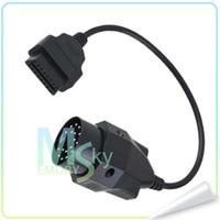 al por mayor cables de diagnóstico-Conector de diagnóstico OBD2 20 Pin Para Auto Herramienta Conector Hembra 16Pin diagnóstico auto Adaptador de cable para BMW 000457 100pcs