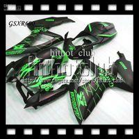 achat en gros de vert carénages corona gsxr-Free Customized + 7giftsof SUZUKI 08-10 GSX R600 GSX-R600 Plat noir vert 2008 2009 2010 C # 3786 GSXR 600 GSXR600 K8 08 09 10 CORONA Fairing