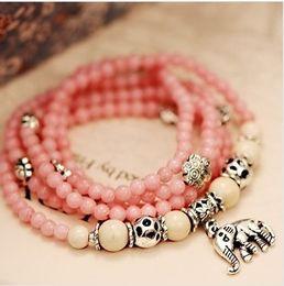 Wholesale Bracelets Charms Thailand Buddha bracelets Crystal Agate Bracelet Jewelry Fashion Jewelry Elephant Korea bracelet