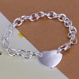 Mix 45 Styles Fashion 925 Silver Links Chain Bracelets Jewelry Woman Girl Lady Gift Heart Pendant Charm Bracelets Lobster Clasp Hot Sale