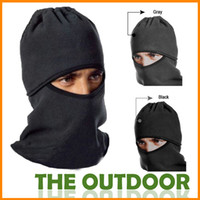 Caps Men  Outdoor Special Catch Balaclavas Sports Caps+Masks Scarf CS Warm Windproof Hat Visor Bike Skiing Face Protection Cycling Caps HW0907