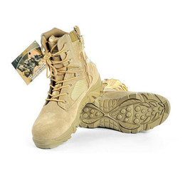 Wholesale Tactical Desert Boots with Side Zipper Outdoor Sports Climbing Hiking Traveling Mountain Airsoft Dri lex Quick Dry Breathable
