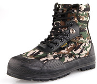 camouflage color army shoes canvas shoes military boots tactical boots