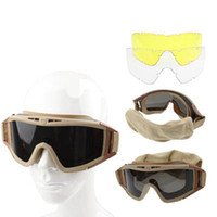 Wholesale Desert Locust Ballistic Goggles Protection Divided Lens in one packaging the price is for Khaki