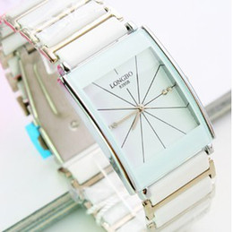 White watches. Ladies fashion jelly male couple retro diamond ceramic color waterproof imitation draw
