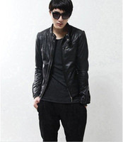 Men Cotton Street Fashion Korean version of the Slim Short collar jacket men's machine wagon