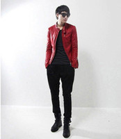 Men Cotton Street Fashion 2013 Korean version of the Slim Short collar jacket men's machine wagon