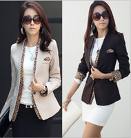 Wholesale Korea Fashion Women s Suit Coat Spring and autumn OL Coats Women s Jacket Clothing Leopard Finishing