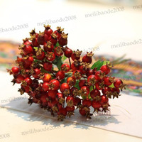 pomegranate - Super blueberry pomegranate artificial fruit berry plum leaf crab photography props soft home wedding party decoration NO VASE MYY5387